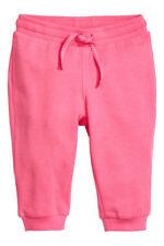 H&M NICE PAIR OF BABY GIRLS SWEAT PANTS SIZE 12-18M NWT