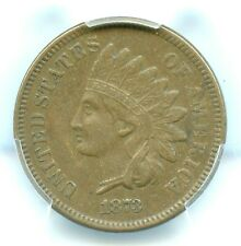 1873 Open 3 Indian Head Cent, PCGS XF45