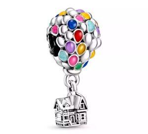 Charm Disney Casa e palloncini colorati Up bracciale ciondolo tipo Pandora