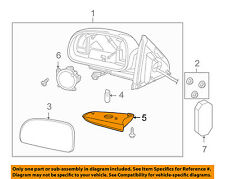 GM OEM Door Side Rear View Mirror-Lens Right 88944062