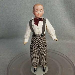 "10-1/2"" antique bisque head German Gebruder Heubach type character boy Doll"