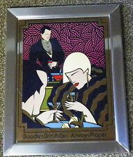 """Boodles British Gin """"Always Proper"""" Art Deco Mirror"""