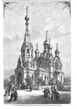 DESDEN*DIE NEUE RUSSISCH-GRIECHISCHE KIRCHE*1874*