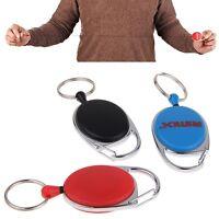 Ausziehbar Schlüsselanhänger mit Nylonband Karabiner Clip Kartenhalter