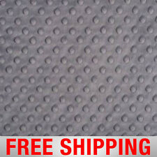 """Dimple Dots Minky Charcoal Grey Fabric. 60"""" Wide. Style# 12527. Free Shipping."""