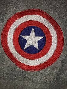 Embroidered GRAY Bathroom Hand Towel- Captain America Emblem HS0803