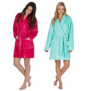 Ladies Large Size Collared Night Bath Gown Soft Feel 18 20 22 24 Robe Nightwear