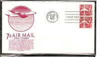 US SC # C61 Silloutte Of Jet Airliner FDC. Anderson Cachet
