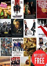 Classic, Brad Pitt Movie Film Posters in A0-A1-A2-A3-A4-A5-A6-MAXI sizes C361