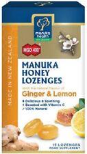NEW ZEALAND Manuka Honey Ginger & Lemon 15 Lozenges 100% NATURAL - Free Shipping