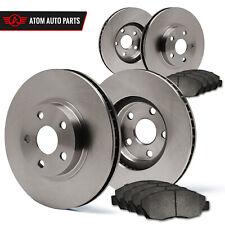 2009 2010 Pontiac Vibe Base 1.8L (OE Replacement) Rotors Metallic Pads F+R