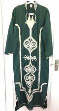 Vintage 60's 70's kaftan embroidered emerald green festival boho hippie ethnic