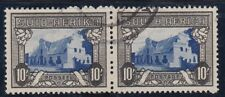 SOUTH AFRICA 1933-48 Defs 10/- SG64ca SACC 63bb FINE USED PAIR Groot Constantia