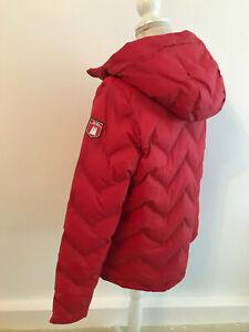 Derbe Damen Kapuzen Winterjacke Taschen rot Gr.40 wasserabweisend