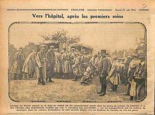 Hôpital Poste de Secours Voiture Ambulance Bataille de la Marne WWI 1915