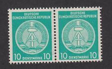 DDR Dienstmarke Nr.  D 35 mit Plattenfehler III im postfrischen Paar