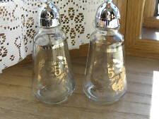 "Glass Salt and Pepper 25th Anniversary 4"" H"