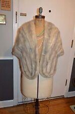 vintage silver gray  mink fur stole wrap s/m