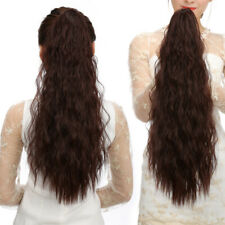24'' 5Color Ponytail Curly Wave Claw Hair Extension Clip In Drawstring Hairpiece