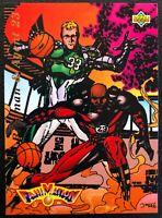 LARRY BIRD/MICHAEL JORDAN 1992-93 UPPER DECK FANIMATION CARD #510
