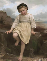 """high quality oil painting handpainted on canvas """"a little girl"""""""
