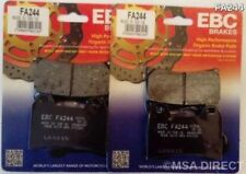 DUCATI 848 (2008 a 2010) EBC Organic PASTILLAS DE FRENO DISCO DELANTERO (FA244)