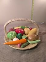 Ceramic Basket With 15 Different Fruits And Vegetables Also Ceramic Handmade