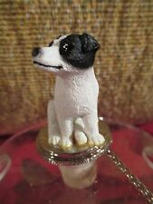 Jack Russell Terrier Blk/ Wht Smooth Coat Wine Stopper