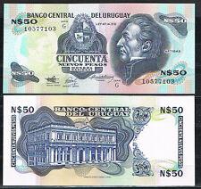 URUGUAY - 50 NUEVOS PESOS 1988/89 Pick#61A  SC  UNC