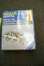 haynes nissan datsun sentra 1982 thru 1990 auto repair manual
