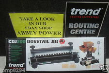 TREND CRAFT ROUTER DOVETAIL JIG CDJ300 + FREE 32MM TEMPLATE CDJ300/04