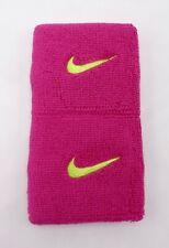 Nike Swoosh Singlewide Wristbands Pink/Volt Men's Women's