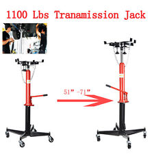 A++ 1100LBS 2 Stage Hydraulic Transmission Jack 360° Swivel Wheels For Car Lift