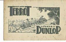 BUVARD ancien motos TERROT pneus DUNLOP annees 40/50 format  155x240 mm