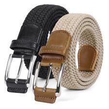 JASGOOD Men's Braided Stretch Elastic Belts Causal Belt for Golf Pants Jeans 344