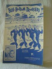 Vintage Sheet Music Bell-Bottom Trousers