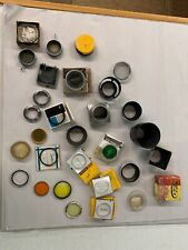 Vintage Camera Accessories 27 Lot (Fiters, Adapters, Sunshades, Etc)