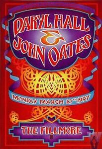 DARYL HALL & JOHN OATES FILLMORE CONCERT POSTER F257 ORIGINAL
