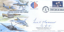 CC32 USAF RAF Flown FDC signed THORSNESS CMoH Vietnam medal holder