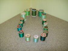 Vintage Spools Green Thread (Lot of 16)