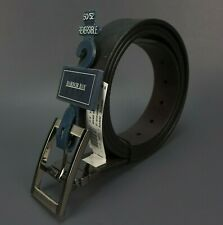 Mens New Leather Reversible Belts Metal Buckles - Black / Brown Size 50/52