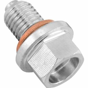 BikeMaster Steel Magnetic Strength Oil Drain Plug - 29-10Z15