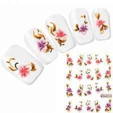 Nagel Sticker Tattoo Nail Art Flower Blume Aufkleber Neu!