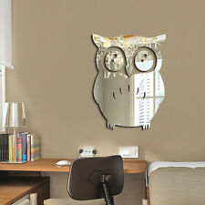 New Acrylic 3D Owl Mirror Vinyl Removable Wall Sticker Decal Home Decor Art DIY