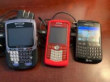 Blackberry 8700 and 8110 and Blackberry 9360 Vintage Phones Lot With Chargers
