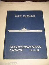 USS Tarawa CV 40 Mediterranean 1951-52  Navy Cruise Book