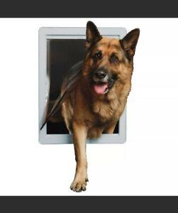 """NEW Ideal Super Large Original Frame Pet Dog Door DSPPDSL 15"""" X 20"""" Husky German"""