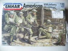 """Emhar em3509 American Infantry """"Doughboys"""" wwi figuras frase - 1:35"""