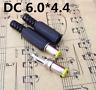 Plastic Cable Guard 6.0 x 4.4mm JK08 Male DC Power Plugs Connectors