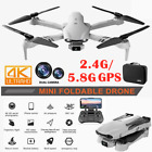 Foldable 6K HD Dual Camera 2.4G/5G GPS Wifi FPV Drone Wide-Angle RC Quadcopter~~